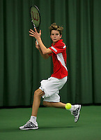 Rotterdam, The Netherlands, 15.03.2014. NOJK 14 and 18 years ,National Indoor Juniors Championships of 2014, Alec Deckers (NED)<br /> Photo:Tennisimages/Henk Koster