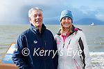 Enjoying a stroll in Fenit on Sunday morning, l to r: Brian O'Sullivan and Francis Clifford.