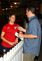 WASHINGTON D.C. - September 02, 2013:<br /> Morgan Brian  talks to the press During a USA WNT open practice at RFK Stadium, in Washington D.C. the day before the USA v Mexico international friendly match.