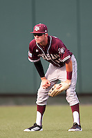 Texas A&M Aggies outfielder Tyler Naquin #18 on defense during the NCAA baseball game against the Texas Longhorns on April 28, 2012 at UFCU Disch-Falk Field in Austin, Texas. The Aggies beat the Longhorns 12-4. (Andrew Woolley / Four Seam Images)...