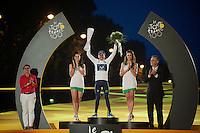 white jersey: Nairo Quintana (COL)<br /> <br /> Tour de France 2013<br /> (final) stage 21: Versailles - Paris Champs-Elysées<br /> 133,5km