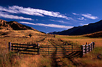 Ranch, fences, and field just outside Enterprise, Orgeon on the Hells Canyon Loop and on the Lostine Valley Road.