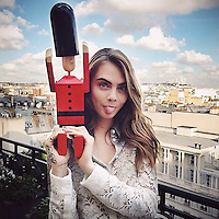 Cara Delevingne has posted a photo on Instagram with the following remarks:<br /> See you at Printemps @burberry <br /> Instagram, 2014-11-07 10:54:22. <br /> Photo supplied by insight media<br /> <br /> This is a private photo posted on social networks and supplied by this Agency. This Agency does not claim any ownership including but not limited to copyright or license in the attached material. Fees charged by this Agency are for Agency's services only, and do not, nor are they intended to, convey to the user any ownership of copyright or license in the material. By publishing this material you expressly agree to indemnify and to hold this Agency and its directors, shareholders and employees harmless from any loss, claims, damages, demands, expenses (including legal fees), or any causes of action or allegation against this Agency arising out of or connected in any way with publication of the material.