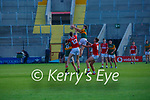 Sean O'Brien  Kerry claims the kickout over team mate Darragh Lyne and Cork's Niall Hartnett and Brian Hayes during the U20 MFC game in Pairc Uí Caoimh last Thursday evening