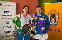 August 24, 2014, Netherlands, Amstelveen, De Kegel, National Veterans Championships, Prizegiving, <br /> Photo: Tennisimages/Henk Koster