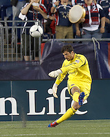 Houston Dynamo goalkeeper Tally Hall (1). In a Major League Soccer (MLS) match, the New England Revolution tied Houston Dynamo, 2-2, at Gillette Stadium on May 19, 2012.