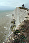 England ,East Sussex,Beachy Head,Belle Tout Lighthouse,coast,chalk cliffs.