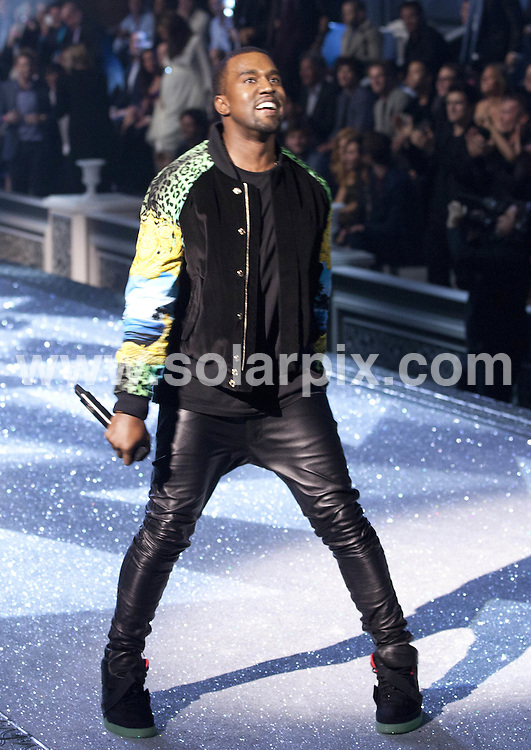 **ALL ROUND PICTURES FROM SOLARPIX.COM**                                             **SYNDICATION RIGHTS FOR UK, AUSTRALIA, DENMARK, PORTUGAL, S. AFRICA, SPAIN & DUBAI (U.A.E) & ASIA (EXCLUDING JAPAN) ONLY**                                                                                  Caption: 2011 Victoria's Secret Fashion Show  Runway and Performance at Lexington Avenue Armory in New York City, NY, USA                                                                               This pic: Kanye West                                                                                       JOB REF:14174        PHZ/Mayer       DATE:09.11.2011                                                            **MUST CREDIT SOLARPIX.COM OR DOUBLE FEE WILL BE CHARGED**                                                                      **MUST AGREE FEE BEFORE ONLINE USAGE**                               **CALL US ON: +34 952 811 768 or LOW RATE FROM UK 0844 617 7637**