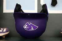CHAPEL HILL, NC - FEBRUARY 19: High Point University batting helmet during a game between High Point and North Carolina at Boshamer Stadium on February 19, 2020 in Chapel Hill, North Carolina.