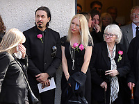 """COPY BY TOM BEDFORD<br />Pictured: Mourners after the service outside Jerusalem Baptist Chapel in Merthyr Tydfil, Wales, UK. Friday 18 August 2017<br />Re: The funeral of a toddler who died after a parked Range Rover's brakes failed and it hit a garden wall which fell on top of her will be held today at Jerusalem Baptist Chapel in Merthyr Tydfil.<br />One year old Pearl Melody Black and her eight-month-old brother were taken to hospital after the incident in south Wales.<br />Pearl's family, father Paul who is The Voice contestant and mum Gemma have said she was """"as bright as the stars""""."""
