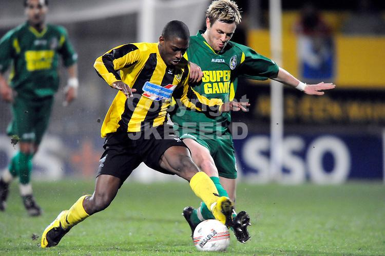 voetbal bv veendam - fortuna sittard seizoen 2007-2008 21-03-2008 ruben schaken met nicoi vanek