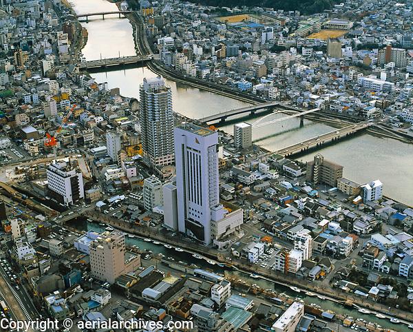 aerial photograph of Kochi, Shikoku, Japan