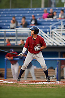 Mahoning Valley Scrappers designated hitter Jesse Berardi (22) at bat during a game against the Batavia Muckdogs on August 29, 2017 at Dwyer Stadium in Batavia, New York.  Batavia defeated Mahoning Valley 2-0.  (Mike Janes/Four Seam Images)