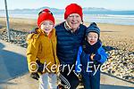 Cian, Stephen and Dara O'Carroll enjoying a stroll on Banna beach on Saturday
