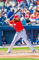28 February 2017: Washington Nationals outfielder Jayson Werth in Spring Training action during the inaugural game against the Houston Astros at the Ballpark of the Palm Beaches in West Palm Beach, Florida. The Nationals defeated the Astros 4-3 in Grapefruit League play. Mandatory Credit: Ed Wolfstein Photo *** RAW (NEF) Image File Available ***
