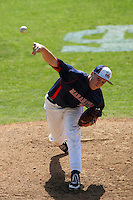 March 20, 2010: Dylan Covey of Maranatha High School pitches against La Salle High School at La Salle High School in Pasadena,CA.  Photo by Larry Goren/Four Seam Images