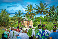 Celebration on Aitutaki island for the investiture of Makirau Haurua with the Teurukura Ariki title