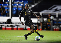 LAKE BUENA VISTA, FL - JULY 18: Bradley Wright-Phillips #66 of LAFC runs onto a pass during a game between Los Angeles Galaxy and Los Angeles FC at ESPN Wide World of Sports on July 18, 2020 in Lake Buena Vista, Florida.