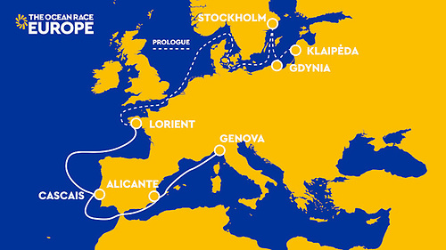 The full race route and schedule have been announced for The Ocean Race Europe