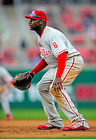13 April 2009: Philadelphia Phillies' first baseman Ryan Howard in action during the Washington Nationals' Home Opener at Nationals Park in Washington, DC. The Nats fell short in their 9th inning rally, losing 9-8, as the visiting Phillies handed the Nats their 7th consecutive loss of the 2009 season. Mandatory Credit: Ed Wolfstein Photo