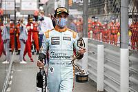 23rd May 2021; Principality of Monaco; F1 Grand Prix of Monaco,   Race Day;  NORRIS Lando gbr, McLaren MCL35M, portrait, celebrating his podium after the 2021 Formula One World Championship