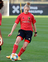 20201021 - TUBIZE , Belgium : Elena Dhont with the ball  during a training session of the Belgian Women's National Team, Red Flames , on the 21st of October 2020 at Proximus Basecamp in Tubize. PHOTO: SPORTPIX.BE | SPP | SEVIL OKTEM