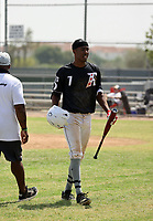 Tyree Reed of the Adispeed Elite 18U team participates in a Pathway Arizona 2020 tournament game at Skyline High School on September 19, 2020 in Mesa, Arizona (Bill Mitchell)