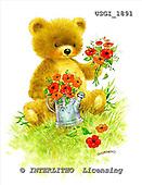GIORDANO, CUTE ANIMALS, LUSTIGE TIERE, ANIMALITOS DIVERTIDOS, Teddies, paintings+++++,USGI1891,#AC# teddy bears