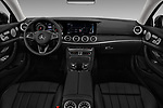 Stock photo of straight dashboard view of a 2018 Mercedes Benz E-Class E400 2 Door Coupe