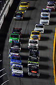 NASCAR Camping World Truck Series<br /> NextEra Energy Resources 250<br /> Daytona International Speedway, Daytona Beach, FL USA<br /> Friday 16 February 2018<br /> Johnny Sauter, GMS Racing, Allegiant Airlines Chevrolet Silverado, Spencer Davis, Kyle Busch Motorsports, JBL/SiriusXM Toyota Tundra<br /> World Copyright: Logan Whitton<br /> LAT Images