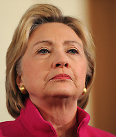 PORTSMOUTH, NH - DECEMBER 29: Democratic Presidential candidate Hillary Clinton speaks at South Church December 29, 2015 in Portsmouth, New Hampshire. Clinton continues to poll strong in New Hampshire as the year comes to a close.<br /> <br /> People:  Hillary Clinton