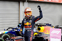 28th August 2021; Spa Francorchamps, Stavelot, Belgium: FIA F1 Grand Prix of Belgium, qualifying sessions;   33 Max Verstappen NED, Red Bull Racing takes pole for race