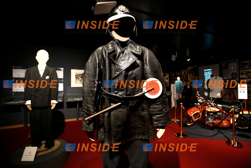 Stage clothes of the film The traffic policeman during the opening of the actor Alberto Sordi''s house museum in Rome. In occasion of the centenary of his  birth, the villa in the heart of Rome, where he lived from 1959 to death, was opened to the public, becoming a house-museum. The house still contains thousand of objects belonged to the actor. In the garden two more tensile structures were added, containing stage clothes, posters of his films, photos and much more. <br /> Rome (Italy), September 15th 2020<br /> Photo Samantha Zucchi Insidefoto