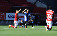 Sheffield Wednesday's Isaiah Brown knees down for black lives matter <br /> <br /> Photographer Ian Cook/CameraSport<br /> <br /> The EFL Sky Bet Championship - Bristol City v Sheffield Wednesday - Sunday 27th September, 2020 - Ashton Gate - Bristol<br /> <br /> World Copyright © 2020 CameraSport. All rights reserved. 43 Linden Ave. Countesthorpe. Leicester. England. LE8 5PG - Tel: +44 (0) 116 277 4147 - admin@camerasport.com - www.camerasport.com