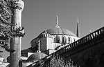 Blue Mosque 04 - Domes and minaret of the Blue Mosque, Sultanahmet, Istanbul, Turkey