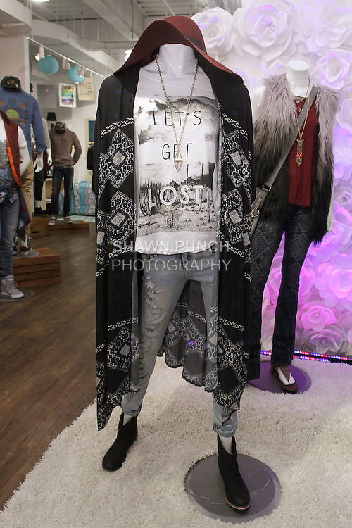 Image from the Aeropostale Fall 2015 press preview at their showroom at 100 West 33 Street in New York City.