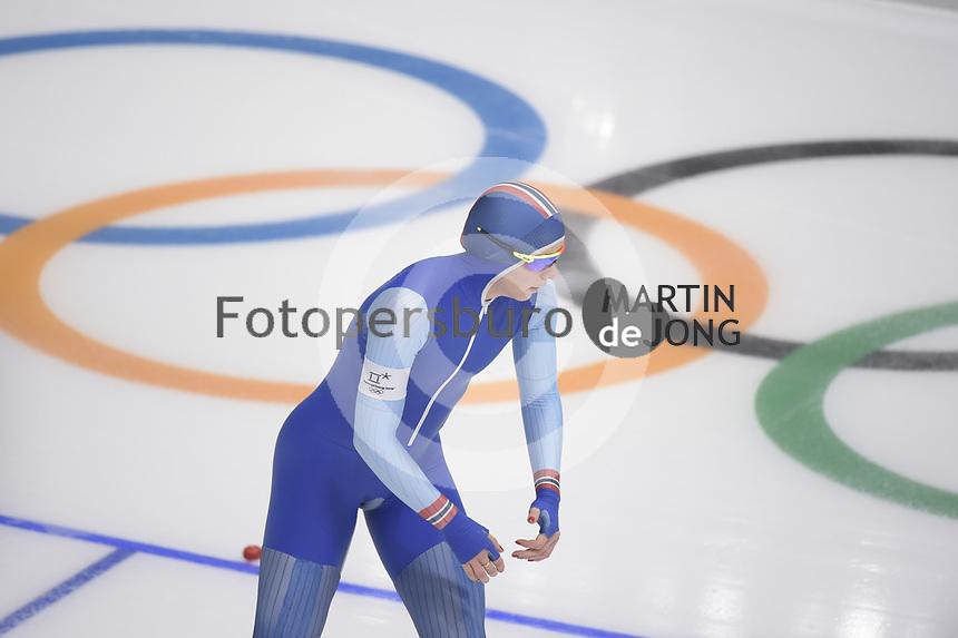 OLYMPIC GAMES: PYEONGCHANG: 18-02-2018, Gangneung Oval, Long Track, 500m Ladies, Ida Njatun (NOR), ©photo Martin de Jong
