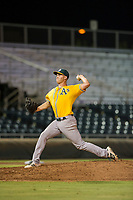 AZL Athletics relief pitcher Chris Kohler (21) delivers a pitch during a game against the AZL Giants on August 5, 2017 at Scottsdale Stadium in Scottsdale, Arizona. AZL Athletics defeated the AZL Giants 2-1. (Zachary Lucy/Four Seam Images)