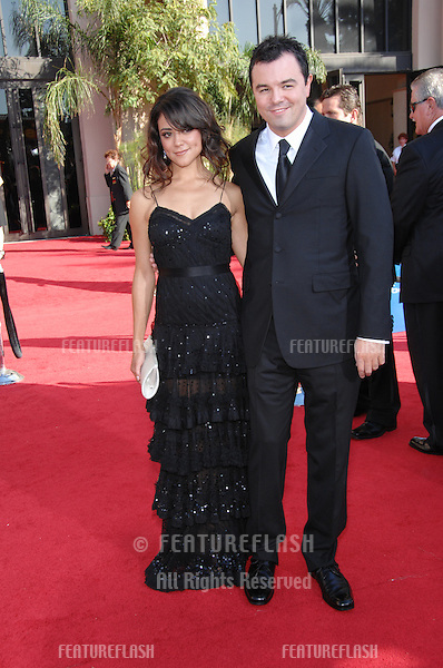 Camille Guaty & Seth McFarlane at the 59th Primetime Emmy Awards at the Shrine Auditorium..September 16, 2007 Los Angeles, CA.Picture: Paul Smith / Featureflash