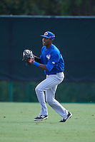 Toronto Blue Jays Reggie Pruitt (4) during practice before an instructional league game against the Atlanta Braves on September 30, 2015 at the ESPN Wide World of Sports Complex in Orlando, Florida.  (Mike Janes/Four Seam Images)