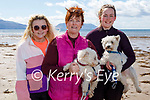 Enjoying a stroll on Inch beach on Saturday, l to r: Celine, Colette and Zeta Ashe with Buster and Mini the dogs.