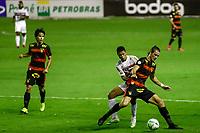 23rd August 2020; Estadio Ilha do Retiro, Recife, Pernambuco, Brazil; Brazilian Serie A, Sport Recife versus Sao Paulo; Iago Maidana of Sport Recife holds off Gabriel Saras of Sao Paulo
