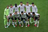 Mannschaftsbild:<br /> Torwart/Goalie Manuel Neuer (Deutschland Germany), Toni Kroos (Deutschland Germany), Antonio Rüdiger (Deutschland Germany), Mats Hummels (Deutschland Germany), Matthias Ginter (Deutschland Germany), Kai Havertz (Deutschland Germany), <br /> vorn: Joshua Kimmich (Deutschland Germany), Robin Gosens (Deutschland Germany), Ilkay Guendogan (Deutschland Germany), Thomas Mueller (Deutschland Germany), Serge Gnabry (Deutschland Germany)<br /> - Muenchen 19.06.2021: Deutschland vs. Portugal, Allianz Arena Muenchen, Euro2020, emonline, emspor, <br /> <br /> Foto: Marc Schueler/Sportpics.de<br /> Nur für journalistische Zwecke. Only for editorial use. (DFL/DFB REGULATIONS PROHIBIT ANY USE OF PHOTOGRAPHS as IMAGE SEQUENCES and/or QUASI-VIDEO)