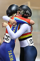 Shanne Fulton and Ellesse Andrews after competing the in Elite Women Sprint for bronze during the 2020 Vantage Elite and U19 Track Cycling National Championships at the Avantidrome in Cambridge, New Zealand on Friday, 24 January 2020. ( Mandatory Photo Credit: Dianne Manson )