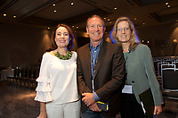 Susan David, Mark and Bonita Thompson at the Coaching in Leadership and Healthcare Conference by the Institute of Coaching and Harvard Medical School at the Renaissance Hotel Boston MA October 13 and 14, 2017