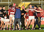 St Joseph's Doora Barefield celebrate the win over Broadford in their Intermediate county final in Cusack Park. Photograph by John Kelly.