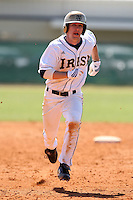 February 28, 2010:  Outfielder Brayden Ashdown of the Notre Dame Fighting Irish during the Big East/Big 10 Challenge at Raymond Naimoli Complex in St. Petersburg, FL.  Photo By Mike Janes/Four Seam Images