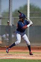 Cleveland Indians Gabriel Mejia (1) during an instructional league game against the Milwaukee Brewers on October 8, 2015 at the Maryvale Baseball Complex in Maryvale, Arizona.  (Mike Janes/Four Seam Images)