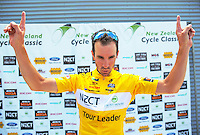 Tour leader Joe Cooper (Isowhey Sports) after stage four of the NZ Cycle Classic UCI Oceania Tour in Wairarapa, New Zealand on Wednesday, 25 January 2017. Photo: Dave Lintott / lintottphoto.co.nz
