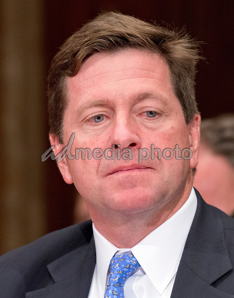 Jay Clayton, Chairman, United States Securities and Exchange Commission testifies before the US Senate Committee on Appropriations Subcommittee on Financial Services and General Government hearing to examine proposed budget estimates and justification for fiscal year 2018 for the SEC and the CFTC on Capitol Hill in Washington, DC on Tuesday, June 27, 2017. Photo Credit: Ron Sachs/CNP/AdMedia